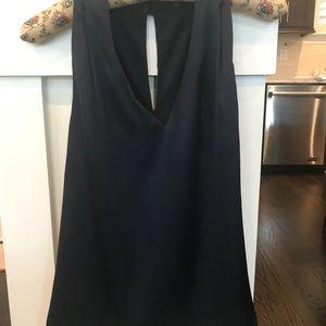New Navy Blue Silk halter